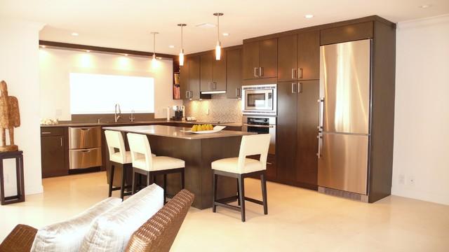 Urban Beach Home contemporary-kitchen