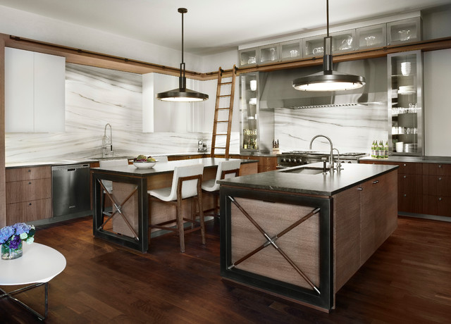 Urban Chic Contemporary Kitchen Chicago By Morgante Wilson Architects