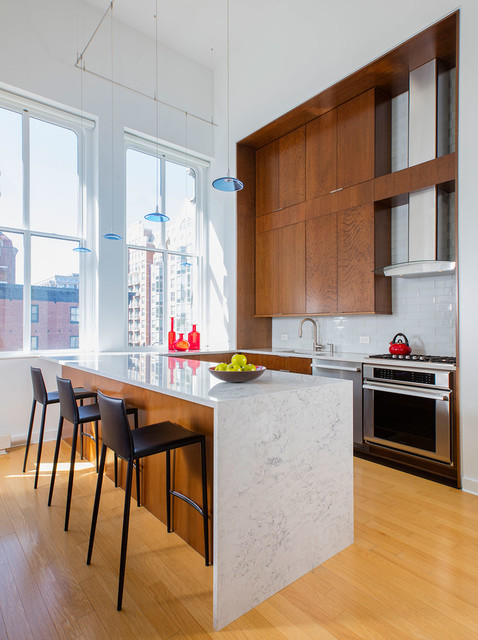 Urban Kitchen Remodel in Penn Quarter - Modern - Küche - Washington ...