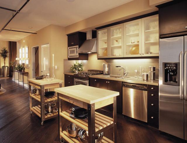 Urban Loft Modern Kitchen Los Angeles By David