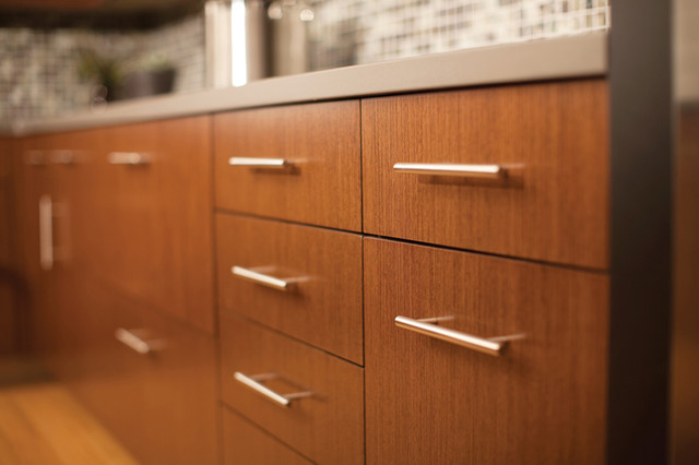 Urban Loft Living Vertical Grain Cabinetry - Contemporary ...