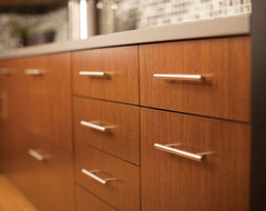 Urban Loft Living Vertical Grain Cabinetry contemporary