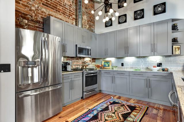 Urban loft industriale cucina charleston di s bogan designs