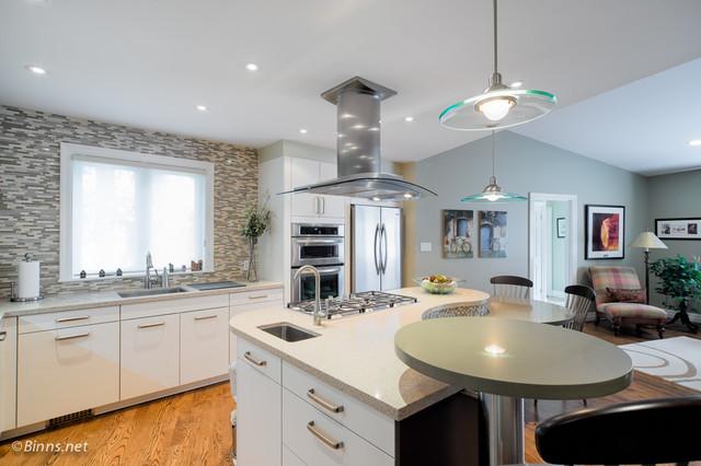 Urban Open Concept contemporary-kitchen