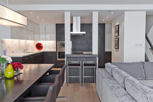 Urban Retreat Contemporary Kitchen Toronto By Biglarkinyan Design Planning Inc