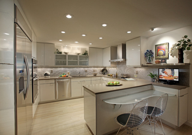 Urban Sarasota Condo Kitchen Contemporary Kitchen Tampa By