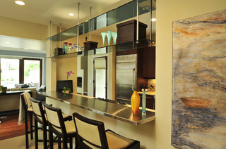Urban Transitional Residence modern kitchen