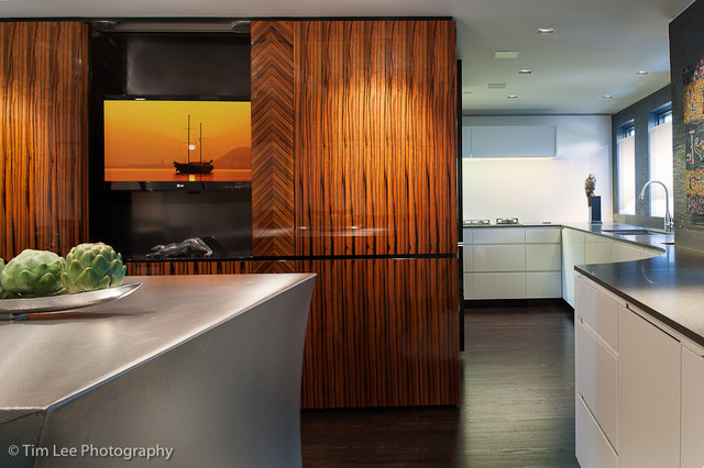 Urban Waterfront Townhouse contemporary-kitchen