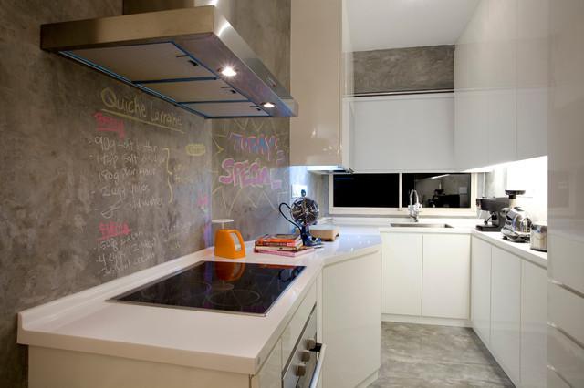 Urban White Canvas contemporary-kitchen