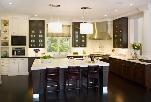 Urbane shingle style Residence traditional-kitchen
