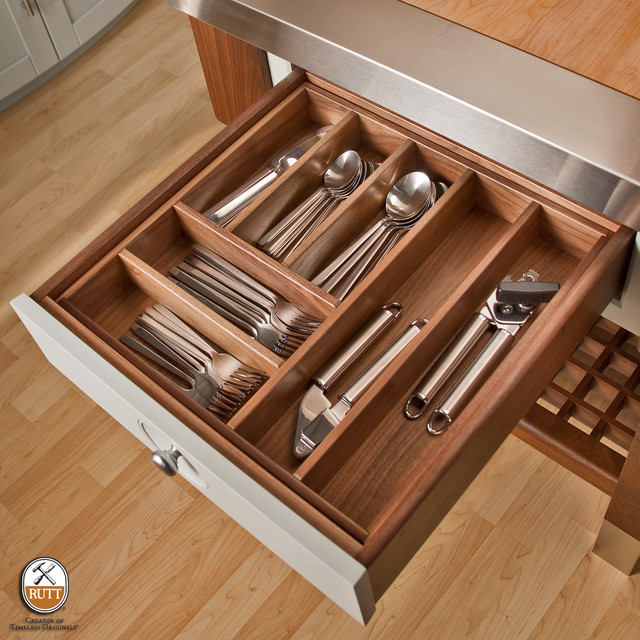 Utensil Organization - Walnut Drawer - Modern - Kitchen - philadelphia - by Rutt HandCrafted ...