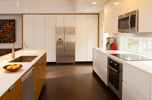 Bon Inspiration For A Modern Kitchen Remodel In Atlanta With An Undermount  Sink, Flat Panel