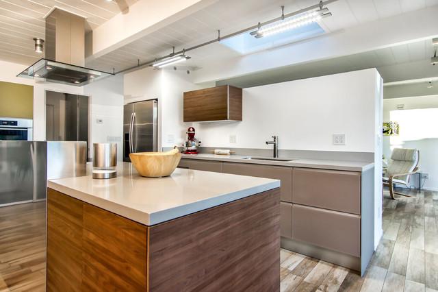 Valcucine cabinets in eichler kitchen midcentury kitchen