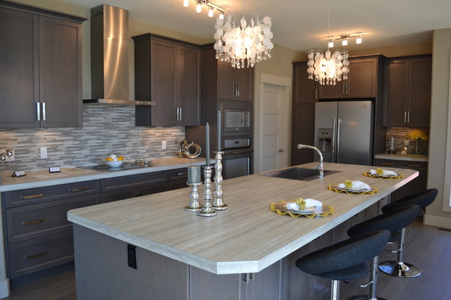 Valini Modern Kitchen Calgary By Mcgonigal Signature Homes