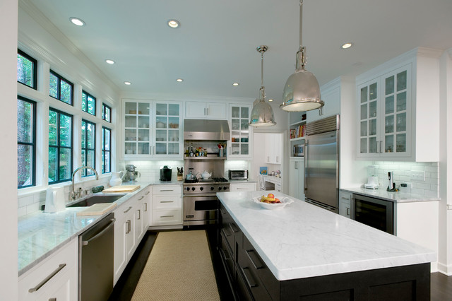 Valley Road - Contemporary - Kitchen - Atlanta - by Woodworks Design Inc