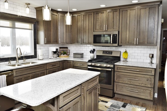 Valparaiso In Haas Signature Collection Hickory Driftwood Kitchen Farmhouse Kitchen Chicago By Bailey S Cabinets