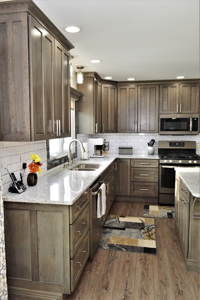 Driftwood Kitchen Cabinets Valparaiso, IN. Haas Signature Collection. Hickory Driftwood