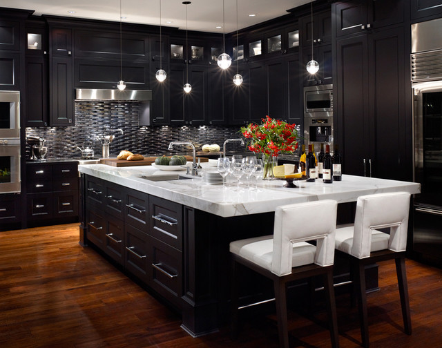 Vancouver 5 contemporary vancouver by citation kitchens for Flat black kitchen cabinets