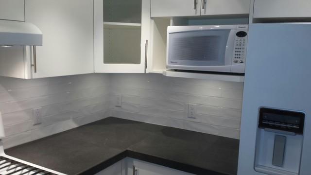 Kitchen Backsplash Vancouver vancouver condo backsplash & counter - contemporary - kitchen