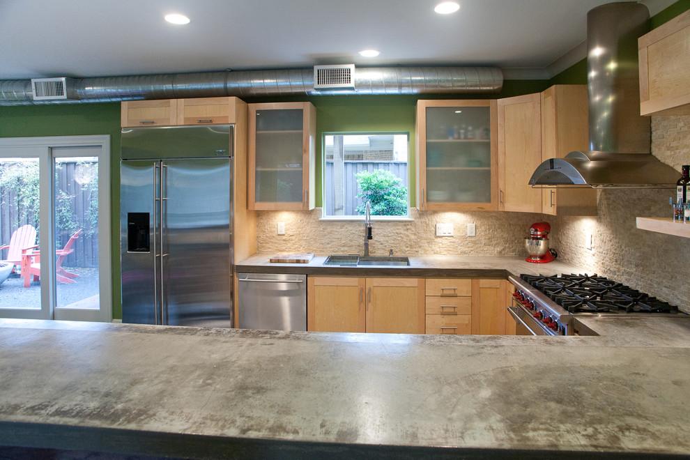 Urban kitchen photo in Dallas