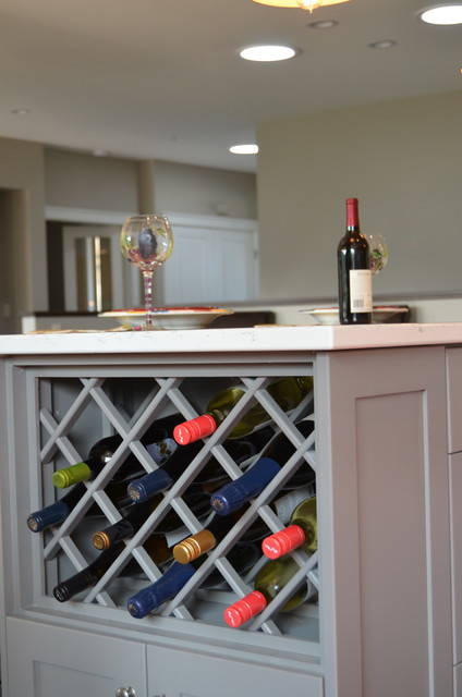 Vanities laundry built in 39 s wine rack traditional for Built in wine racks for kitchen cabinets
