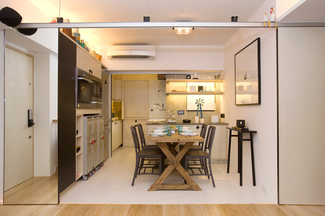 Vantage Park Maximum Flexibility With 10 Sliding Doors Contemporary Kitchen Hong Kong