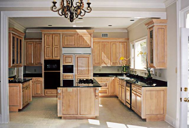 Variety Of Materials Selected Maple Cabinets With Black Granitetraditional Kitchen Dc Metro