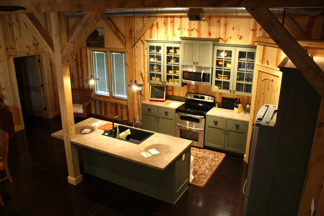 Barn Home Interiors various barn home interiors - traditional - kitchen - other -