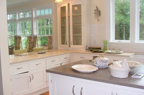 Beautiful Can You Tell Me What The Two Different Countertops Are