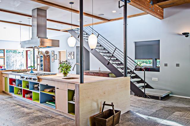 Vashon barn conversion modern kitchen seattle by floisand studio for Barn conversion kitchen designs