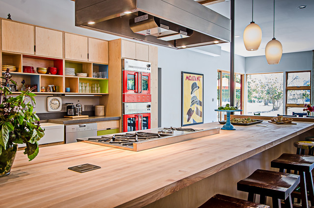 Vashon barn conversion modern kitchen seattle by for Modern barn kitchen