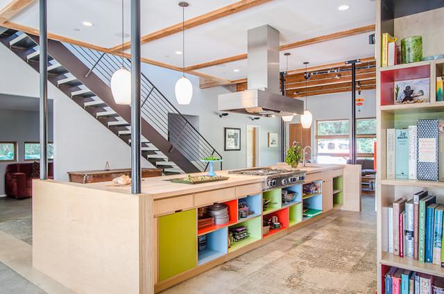 Vashon Barn Conversion Contemporary Kitchen Seattle