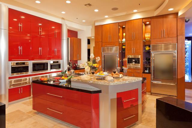 Vegas villa contemporary kitchen las vegas by for Kitchen design las vegas