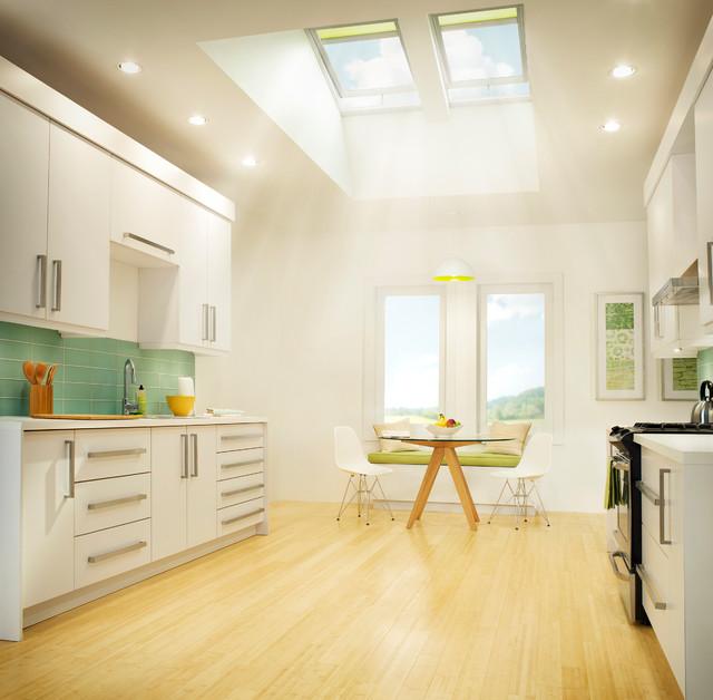 Velux no leak solar powered fresh air skylights for Velux fresh air skylight