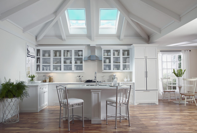 Velux Skylights Bathe Kitchens In Daylight