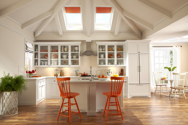 Velux contemporary kitchen