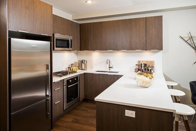 Ven Contemporary Kitchen Calgary By Portico Design Group