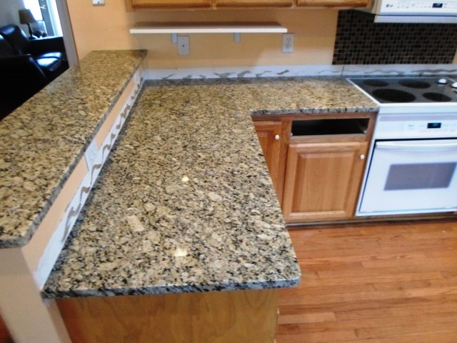Beautiful Venetian Ice Granite For Light Wood Cabinets 1 13 12 Traditional Kitchen