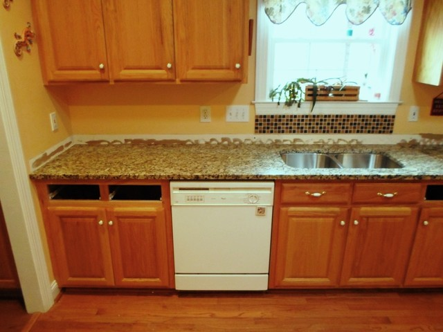 Ice Granite For Light Wood Cabinets 1 13 12 Traditional Kitchen