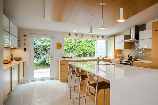 Venice Island Mid Century Modern Midcentury Kitchen tampa by Dynan Co