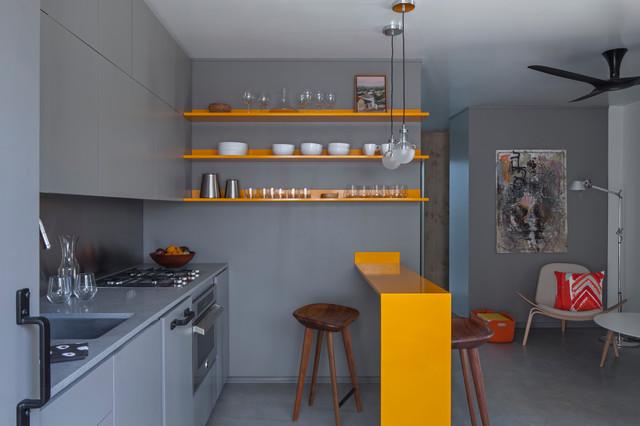 Venice Micro Apartment Contemporary Kitchen Los
