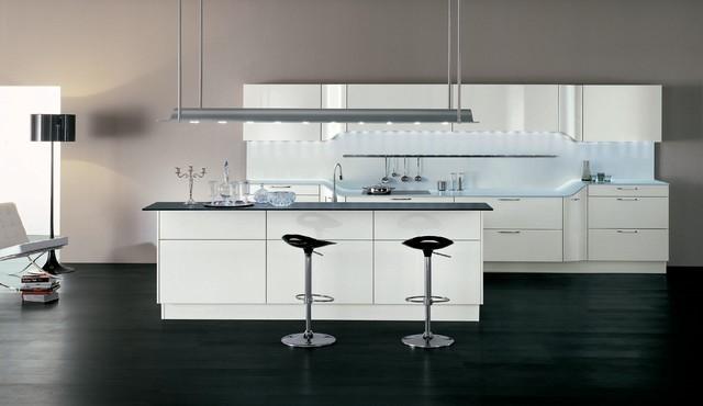 VENUS by Pininfarina design - Ice white high gloss lacquer contemporary-kitchen