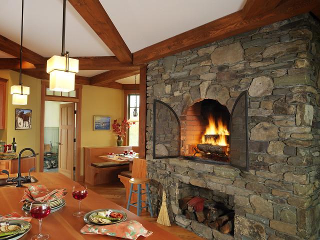Vermont Retreat traditional-kitchen