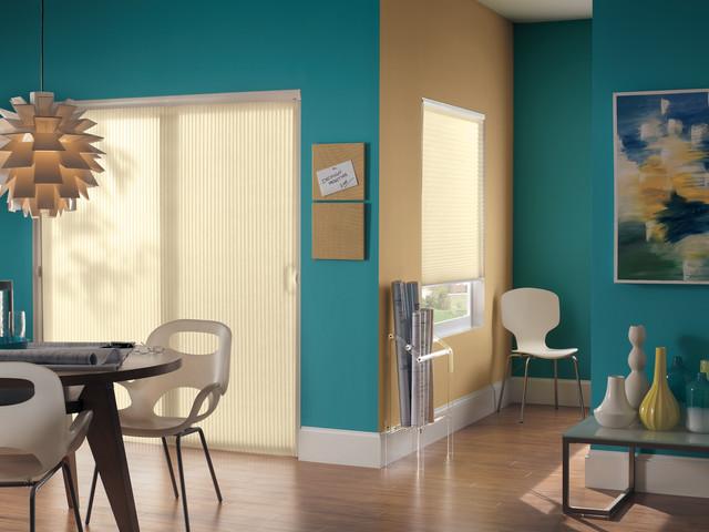 Vertical Cellular Shades For Sliding Glass Doors Modern