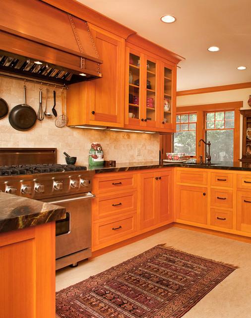 Vertical Grain Douglas Fir Kitchen - Traditional - Kitchen - Los ...