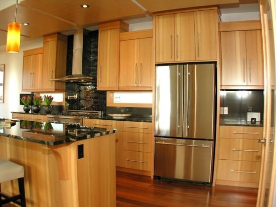 Vertical Grain Douglas Fir Kitchen