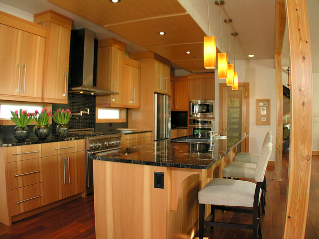 Vertical Grain Douglas Fir Kitchen