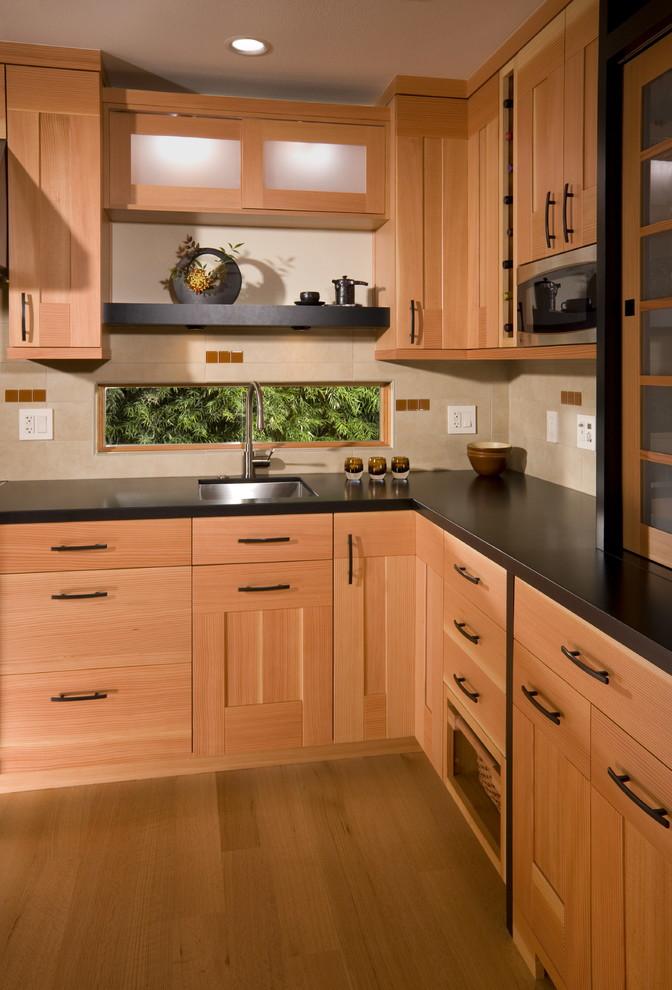 Vertical Grain Fir Cabinetry - Asian - Kitchen - San ...