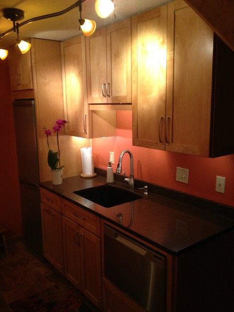Very Small Galley Kitchen Eclectic Kitchen Boston by Susie