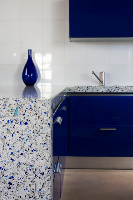 Vetrazzo - Chivalry Blue contemporary-kitchen